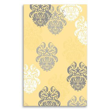 The Rug Market Kids collection 5 x 8 Yellow Damask Kids Area Rug   12362D