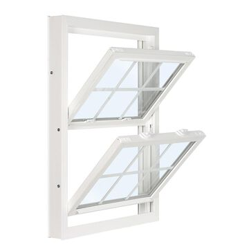 ReliaBilt 3201 Vinyl Replacement White Exterior Double Hung Window (Rough Opening: 36-in x 53.75-in; Actual: 35.75-in x 53.5-in)