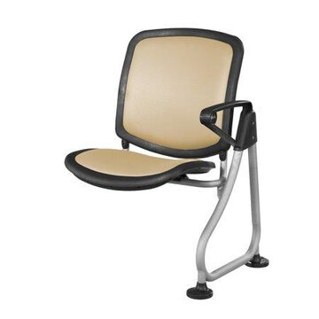 OFM ReadyLink Model 211 Add-On Chair, Peach with Silver Frame