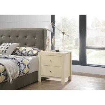 Burlington 2-drawer Wood Nightstand (Beige)