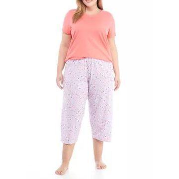 Hue Women's Plus Size Happy Cosmo Pajama Set - -