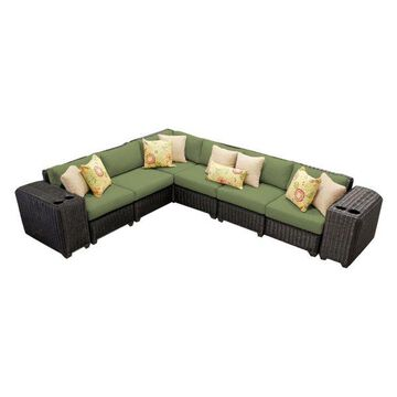 TK Classics Venice 8-Piece Outdoor Wicker Sofa Set, Cilantro