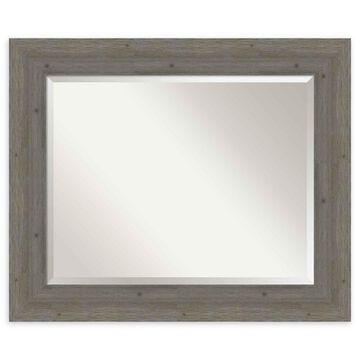 Amanti Art Fencepost Grey Framed Wall Mirror
