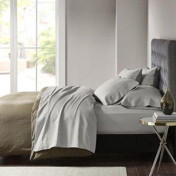 Comfort Classics 800 Thread Count Cotton Rich Sateen Sheet Set, Gray, Queen