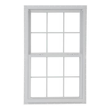 ReliaBilt 130 Vinyl New Construction White Exterior Single Hung Window (Rough Opening: 28-in x 54-in; Actual: 27.5-in x 53.5-in)