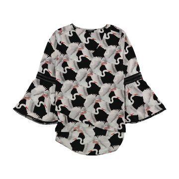 Alfani Womens Heron Pullover Blouse