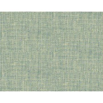 Kenneth James Woven Summer Green Grid Wallpaper