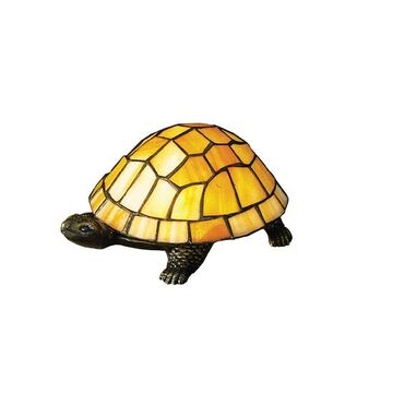 10271 4 Inch H X 9 Inch W X 6 Inch D Tiffany Turtle Accent Lamp