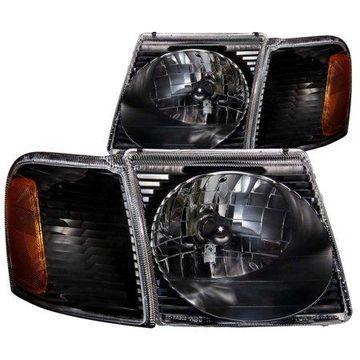 ANZO 2001-2005 Ford Explorer Crystal Headlights Black