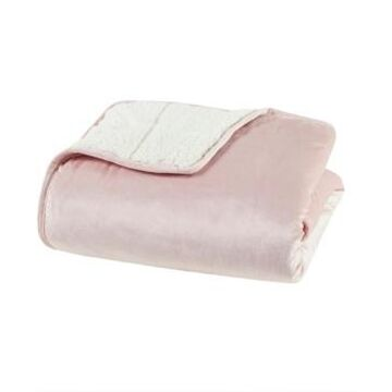 "Sleep Philosophy Velvet to Berber Weighted Blanket, 48"" x 72"" - 12 lbs Bedding"