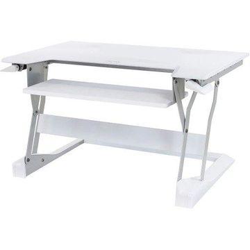 Ergotron WorkFit-T, Sit-Stand Desktop Workstation (White) - Rectangle Top - 35'' Table Top Width x 23'' Table Top Depth