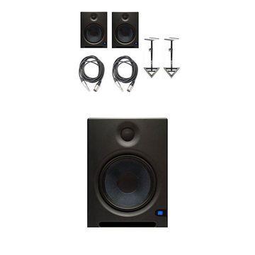 PreSonus Eris E8 Active Studio Monitors w Speaker Stands and TRS to XLR-Male ...