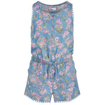 Big Girls Floral-Print Romper, Created for Macy's