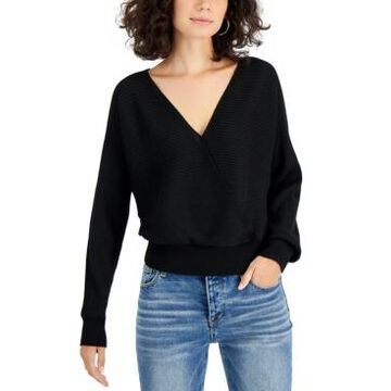 Planet Gold Juniors' Double V-Neck Sweater