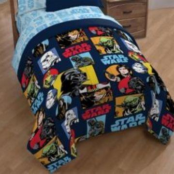 Star Wars Galactic Grid Full Comforter Bedding