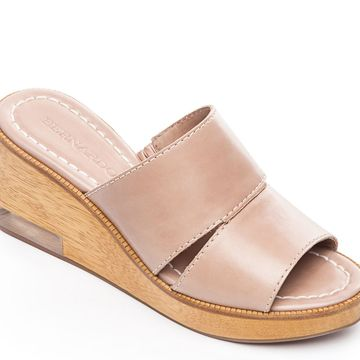 Bernardo Leather Slip On Wedges - Kara