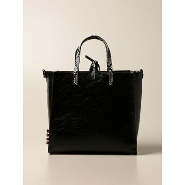 Felicia Manila Grace Handbag In Crackle Synthetic Leather