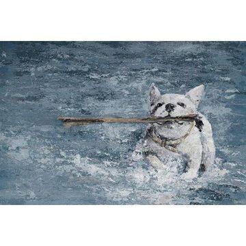 Parvez Taj Swimming Dog Canvas Wall Art