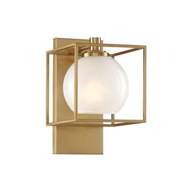 Designers Fountain Cowen 6.75-in W 1-Light Brushed Gold Glam Wall Sconce