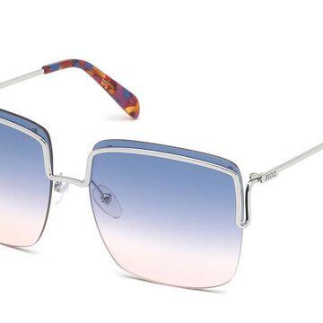 Emilio Pucci EP0116 16W Womenas Sunglasses Silver Size 62