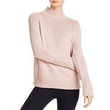 Elie Tahari Tanya Metallic Mock-Neck Sweater