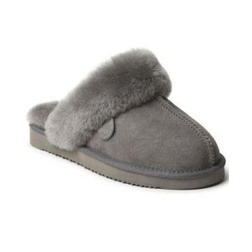 Dearfoams Women's Fireside Sydney Genuine Shearling Scuff Women's Shoes
