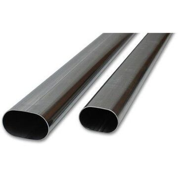 Vibrant Performance 13182 VIB13182 3IN OVAL (NOMINAL) T304 STAINLESS STEEL STRAIGHT TUBING - 5 FEET LONG