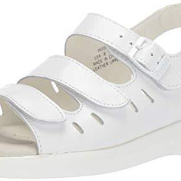 Propet Women's W0001 Breeze Walker Sandal,White Grain,7.5 W (US Women's 7.5 D)