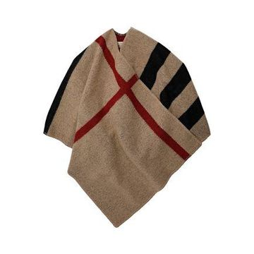 Burberry Checked Wool And Cashmere-blend Wrap