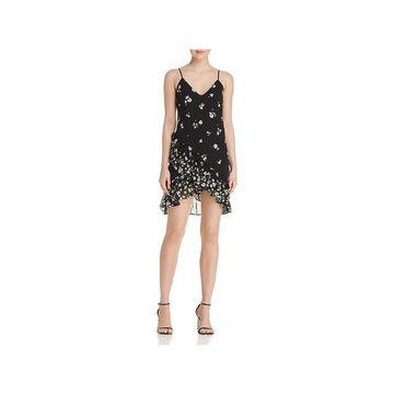 Bardot Womens Party Dress Adjustable Straps Above Knee Mini