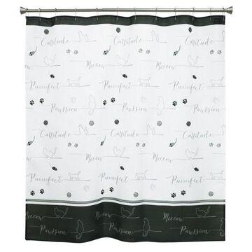 Bacova Guild Underline Cats Shower Curtain