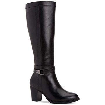 Giani Bernini Womens Rozario Leather Closed Toe Over Knee