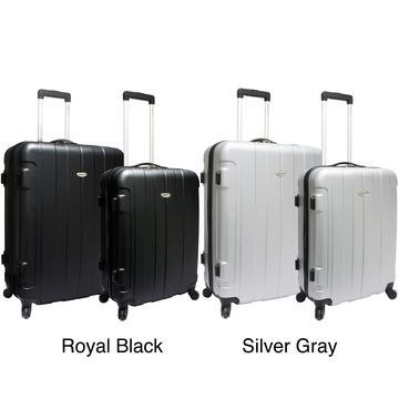Traveler's Choice Rome 2-piece Hardside Spinner Checked Luggage Set