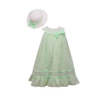 Bonnie Jean Girls' Girls 7-16 Clip Dot Dress And Hat - -