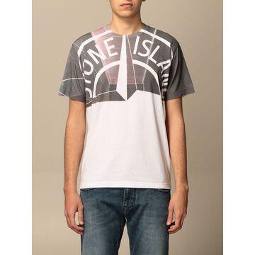 Stone Island cotton t-shirt with big logo