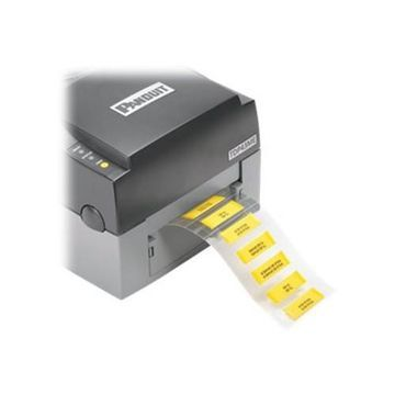 Panduit3:1 flattened polyolefin - yellow - 1 in x 0.44 in 1000 label(s) (1 roll(s) x 1000) labels(H100X044H2T-2)