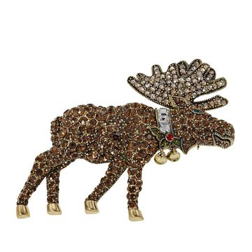 Heidi Daus Merry Moose Crystal Pin