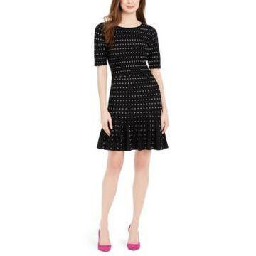 Taylor Polka-Dot Sweater Dress