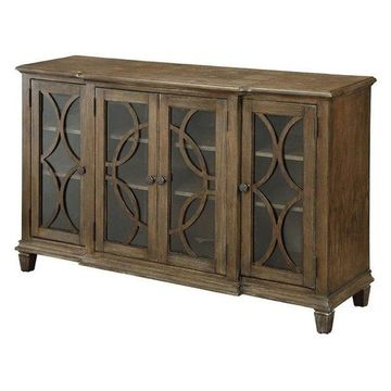 Furniture of America Elliot Buffet in Brown