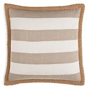 Surya Warrick Striped Linen Decorative Pillow, 18 x 18