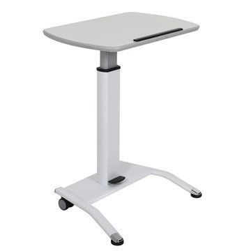 Luxor White Steel Pneumatic Height Adjustable Lectern