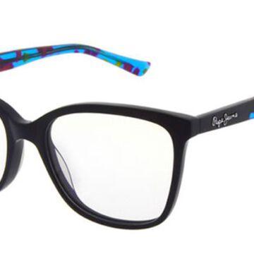 Pepe Jeans SABELLA PJ3319 C1 Men's Glasses Black Size 52 - Free Lenses - HSA/FSA Insurance - Blue Light Block Available
