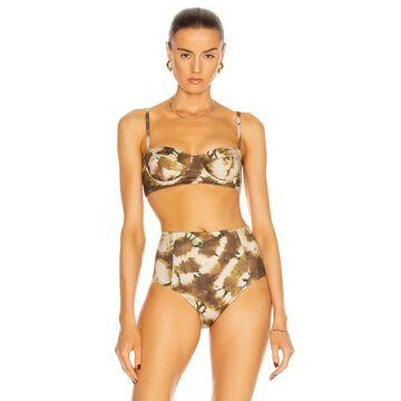 Ulla Johnson Zahara Bikini Top in Olive   FWRD