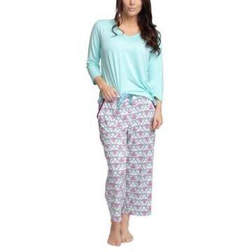 Muk Luks Solid Top & Capri Pants Pajama Set