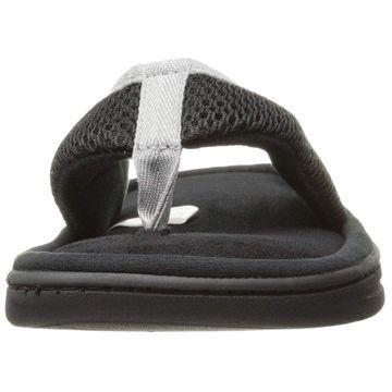 Dearfoams Mens Slip On Slipper Slip On Open Toe Flip Flops