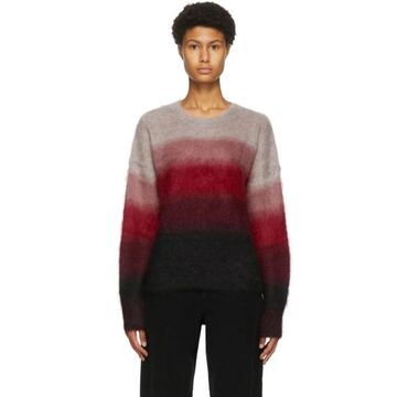 Isabel Marant Etoile Red and Black Drussel Sweater