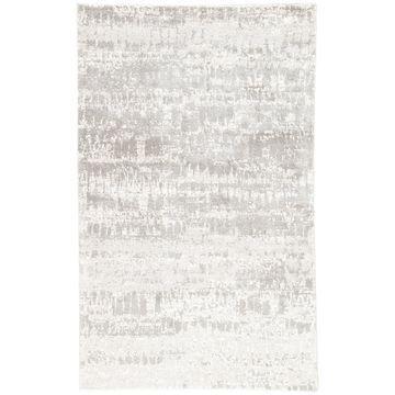 Giffard Abstract Grey Area Rug - 6' x 9'