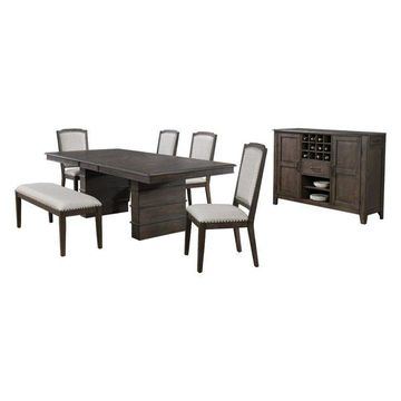 Sunset Trading Cali 7-Piece Extendable Dining Table Set