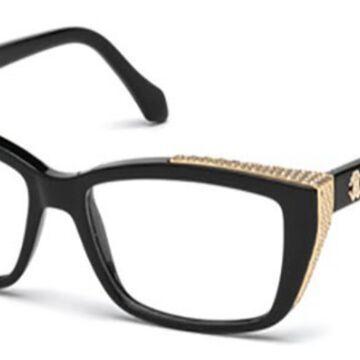 Roberto Cavalli RC 0948 SAIPH 001 Womenas Glasses Black Size 54 - Free Lenses - HSA/FSA Insurance - Blue Light Block Available