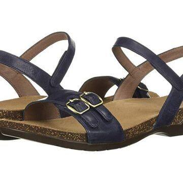 Dansko Rebekah (Navy Waxy Burnished) Women's Sandals